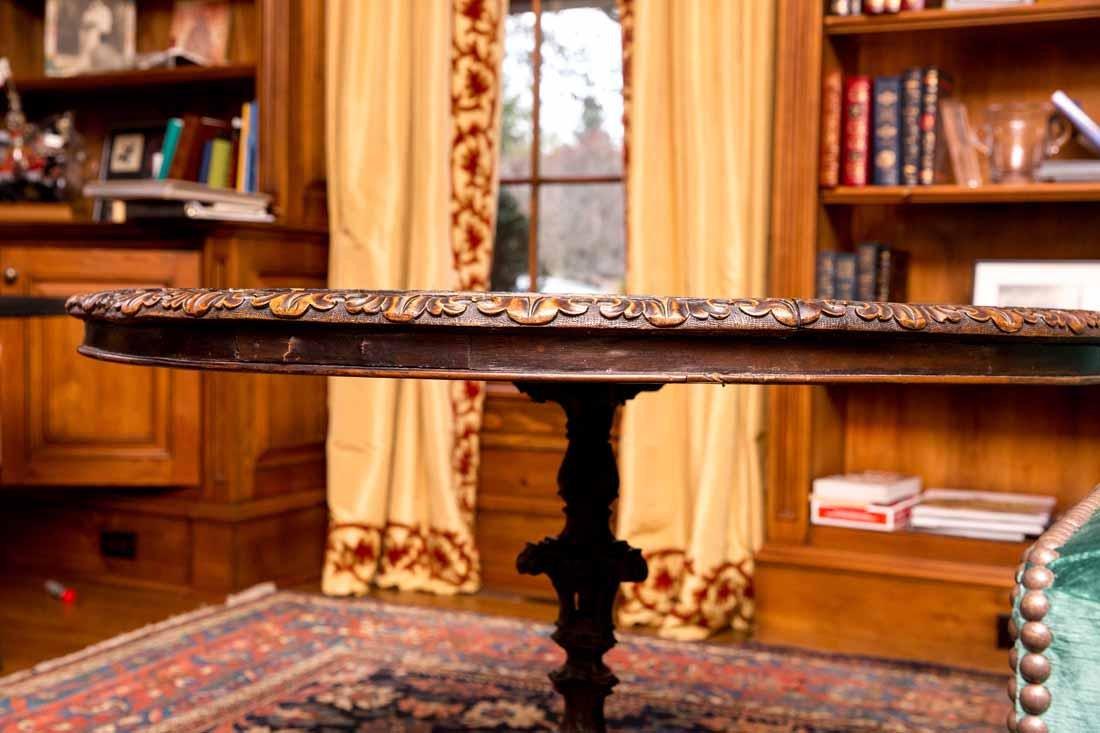 Antique Pietra Dura Round Table - 3