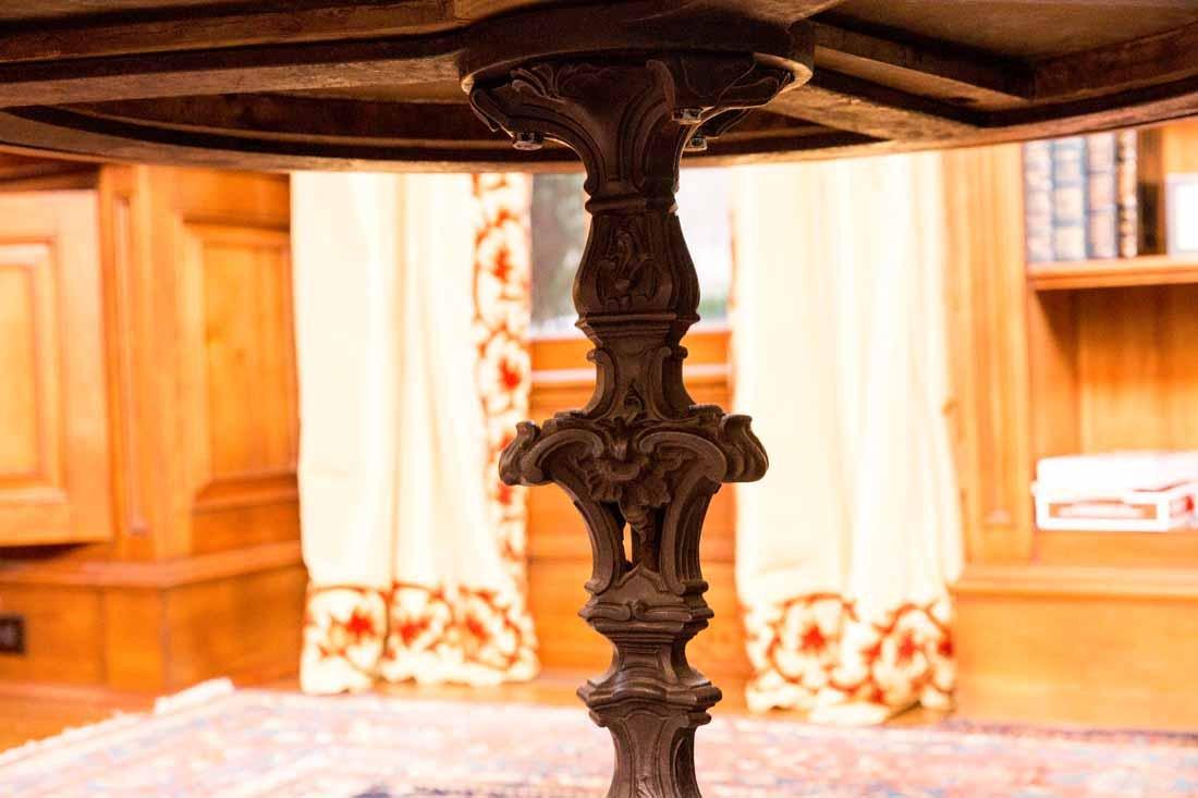 Antique Pietra Dura Round Table - 6