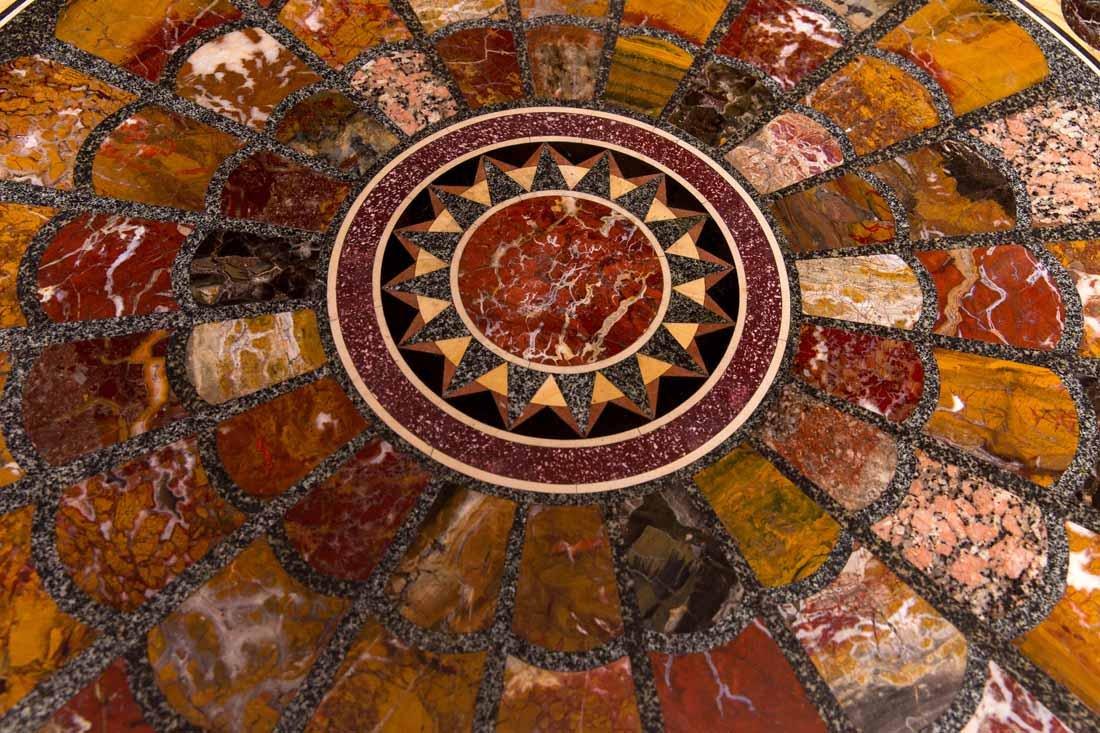 Antique Pietra Dura Round Table - 8