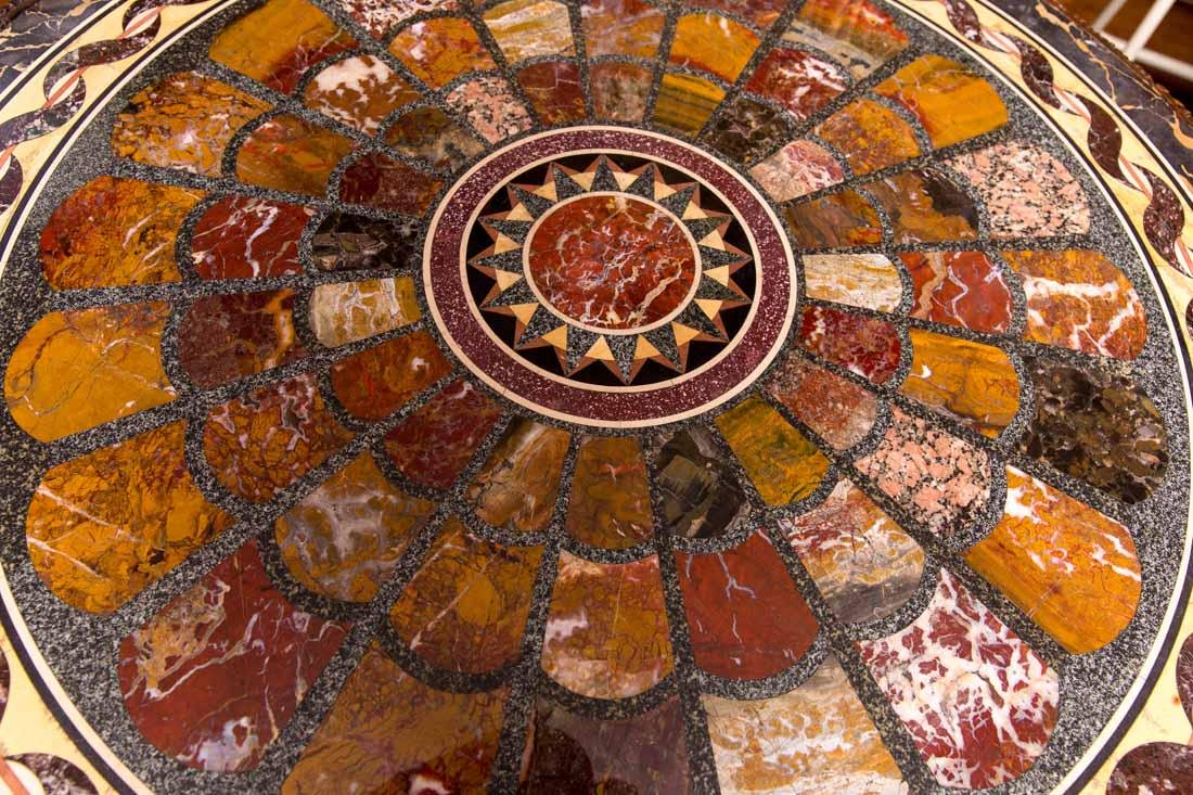 Antique Pietra Dura Round Table - 9
