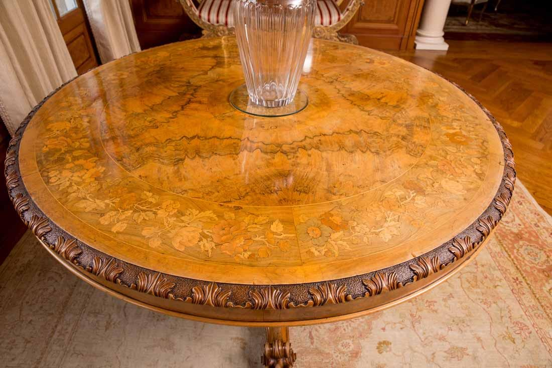 Inlaid Center Table - 6