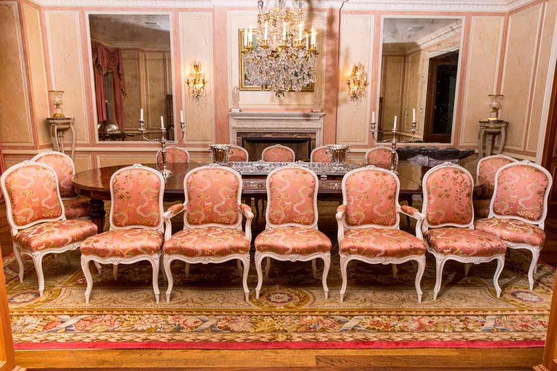 Set of 14  Louis XV  Dining Chairs by Cresson