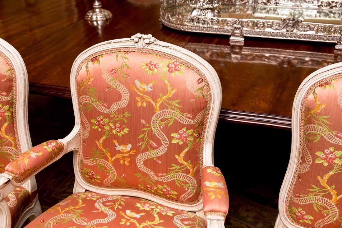 Set of 14  Louis XV  Dining Chairs by Cresson - 3