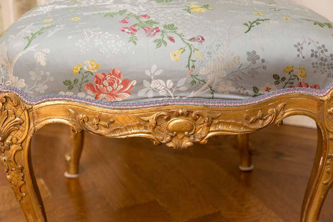 Pair of Louis XV Giltwood Side Chairs - 3