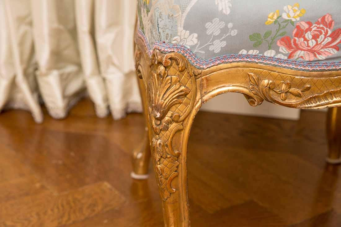 Pair of Louis XV Giltwood Side Chairs - 5
