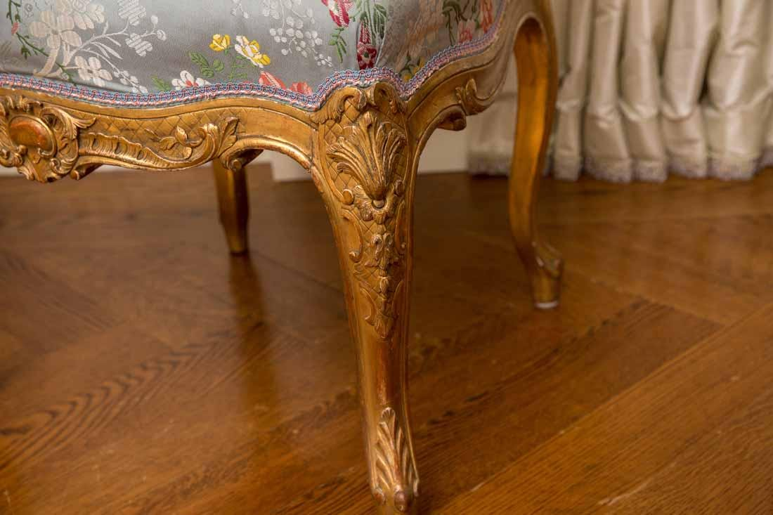 Pair of Louis XV Giltwood Side Chairs - 7