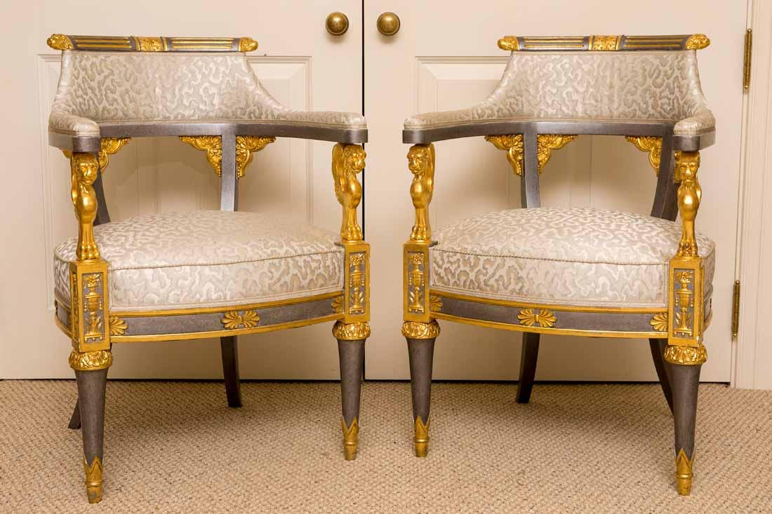 Pair of Russian Style Chairs