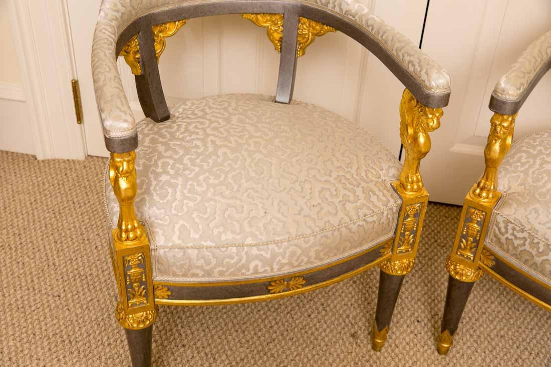 Pair of Russian Style Chairs - 2