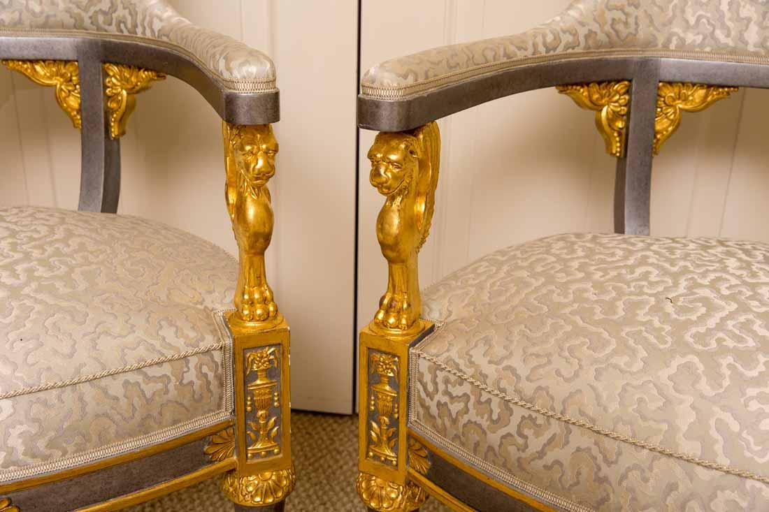 Pair of Russian Style Chairs - 6