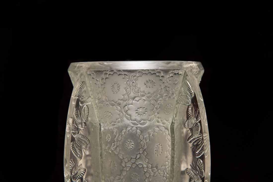 """Lalique """"Papillon""""  Vase"""" - 2"""
