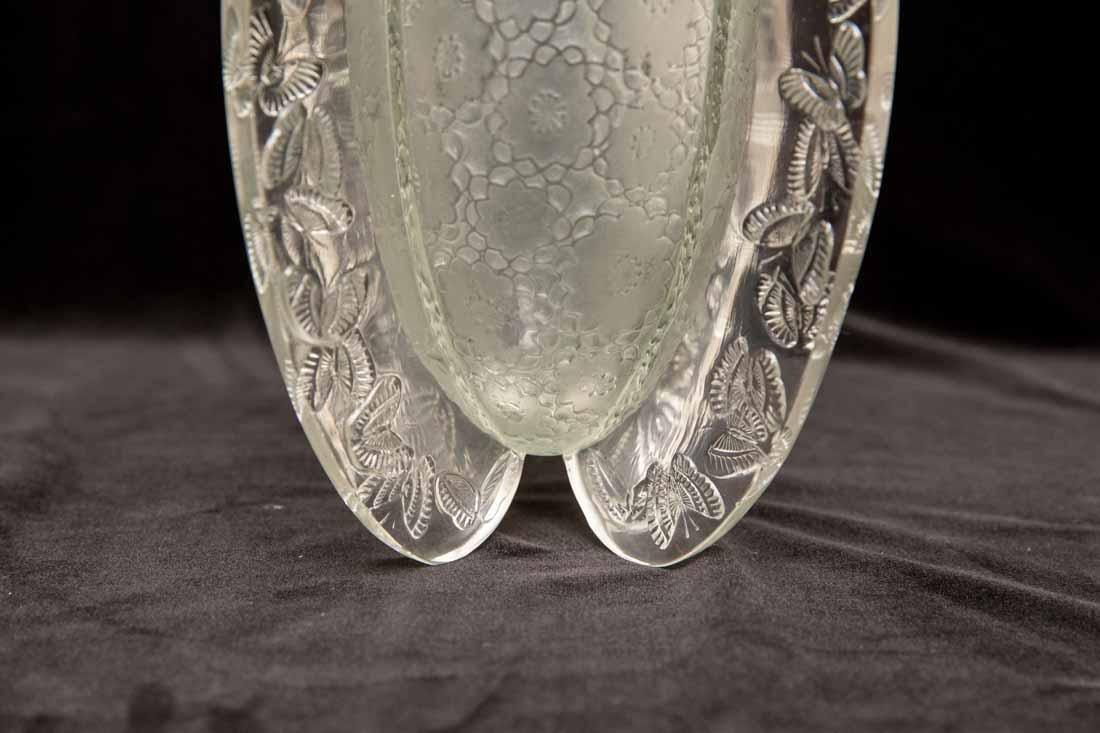 """Lalique """"Papillon""""  Vase"""" - 4"""