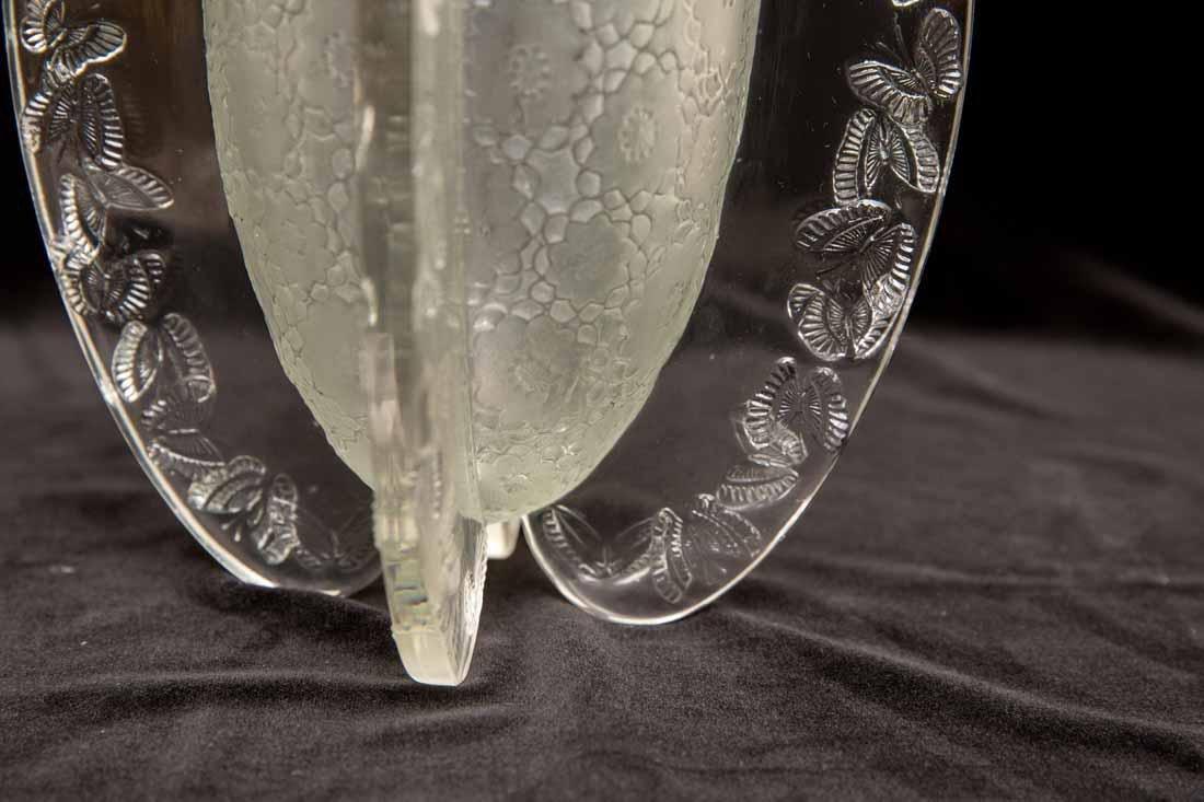 """Lalique """"Papillon""""  Vase"""" - 6"""