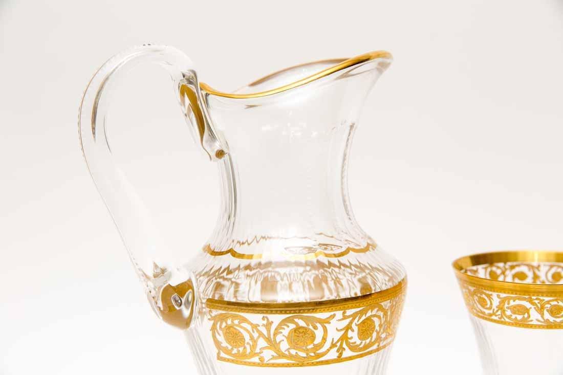 French Saint Louis Crystal Gilt Thistle Stemware - 7