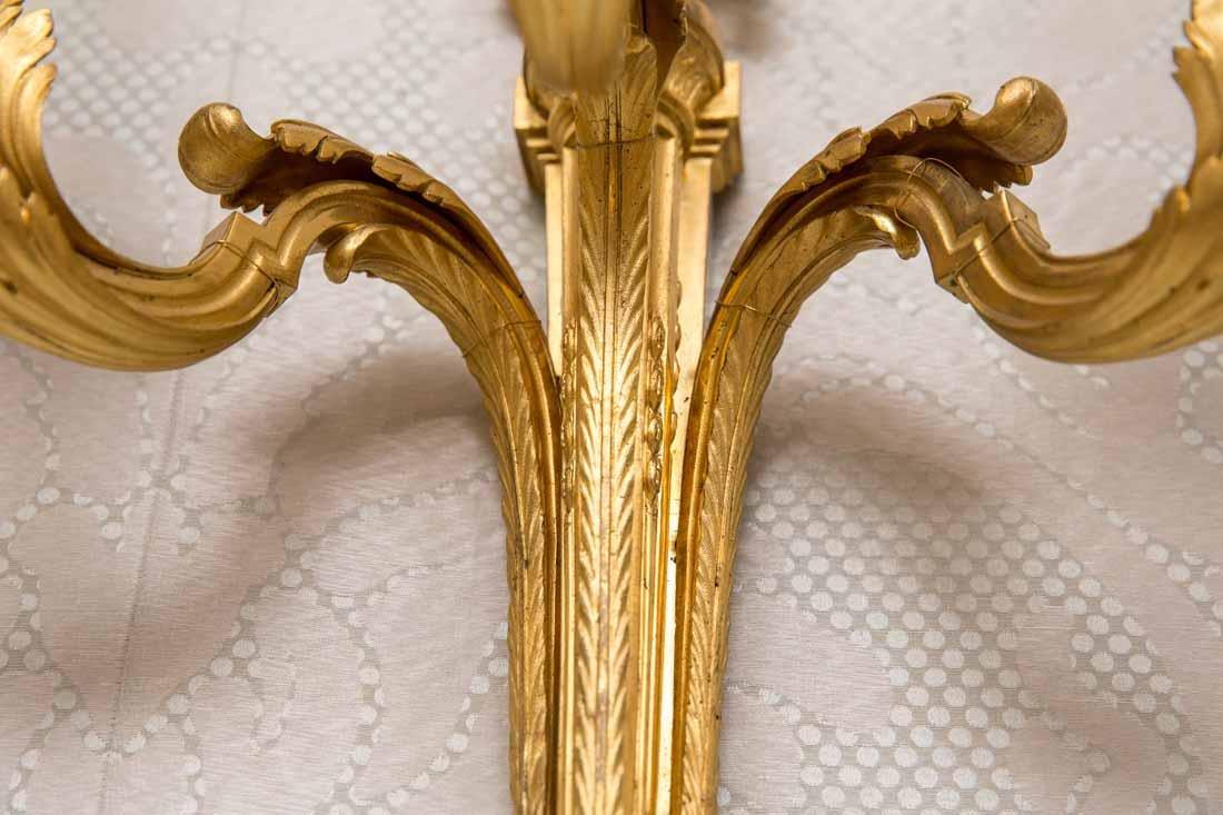 Pair of Antique  3-Light Sconces - 6