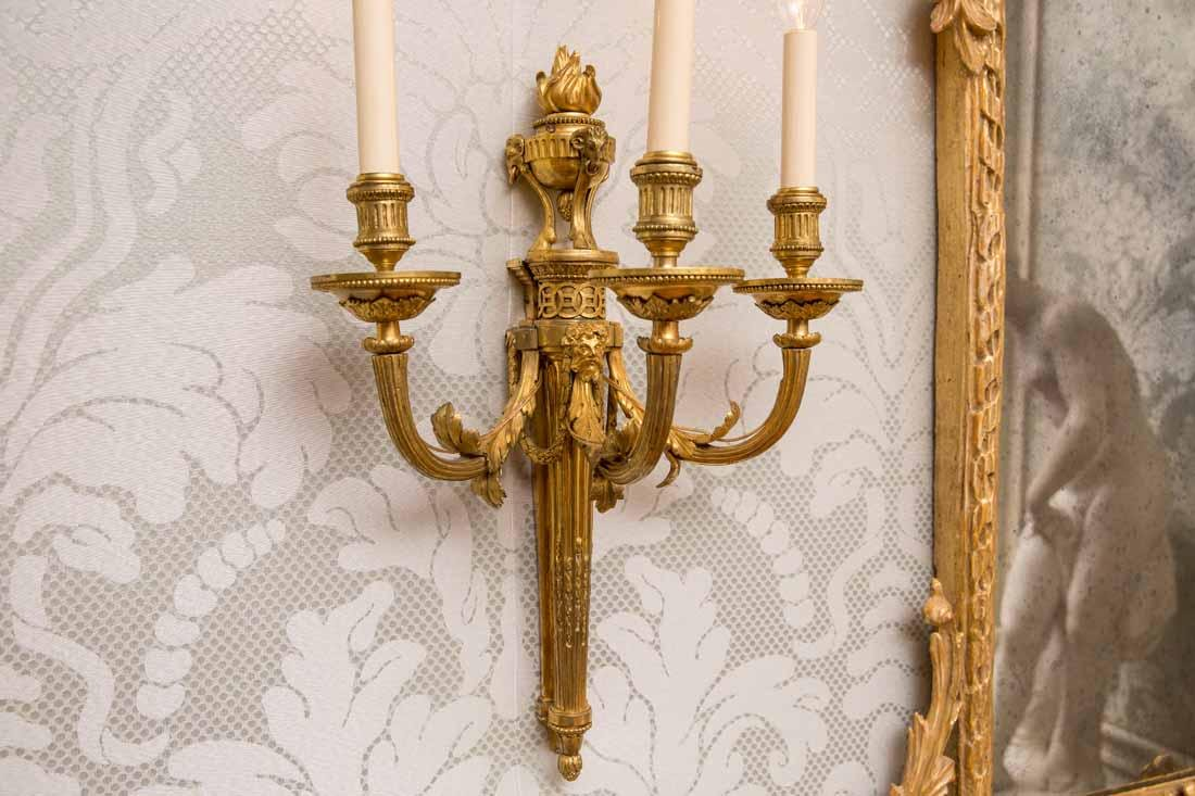 Group of 4  3-Light Sconces - 5