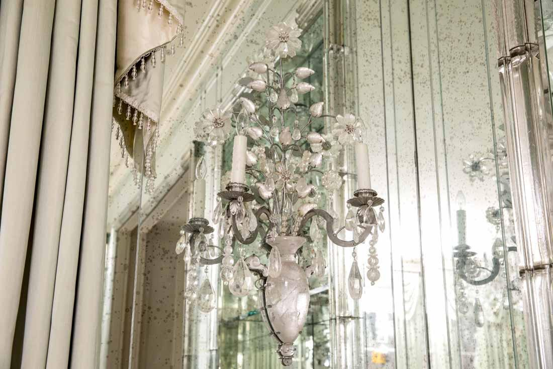 Pair of Rock Crystal 2-Light Sconces