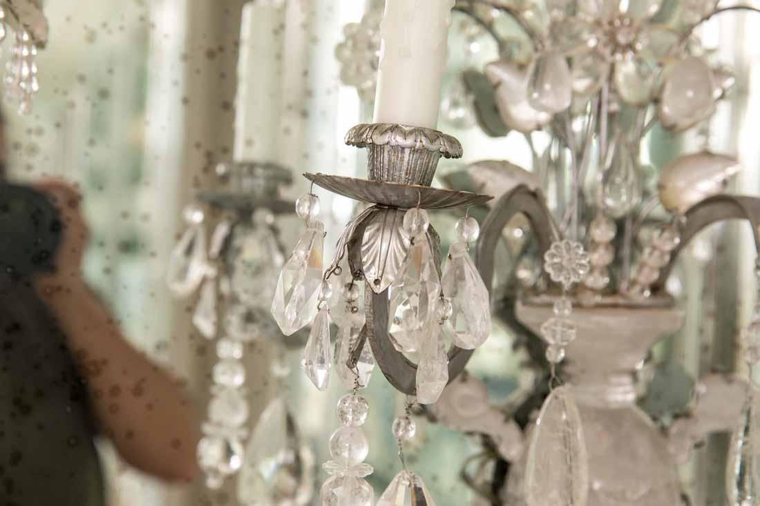 Pair of Rock Crystal 2-Light Sconces - 3