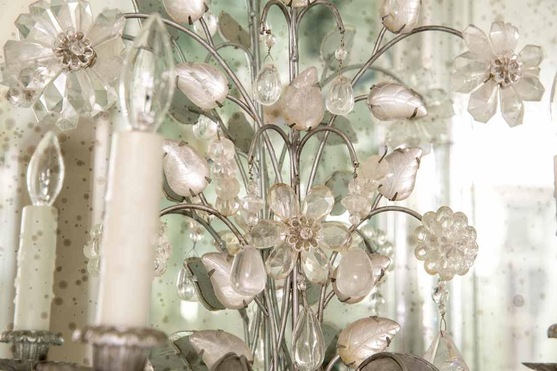 Pair of Rock Crystal 2-Light Sconces - 4