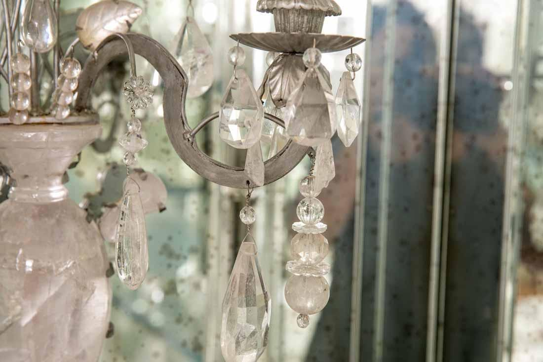 Pair of Rock Crystal 2-Light Sconces - 7