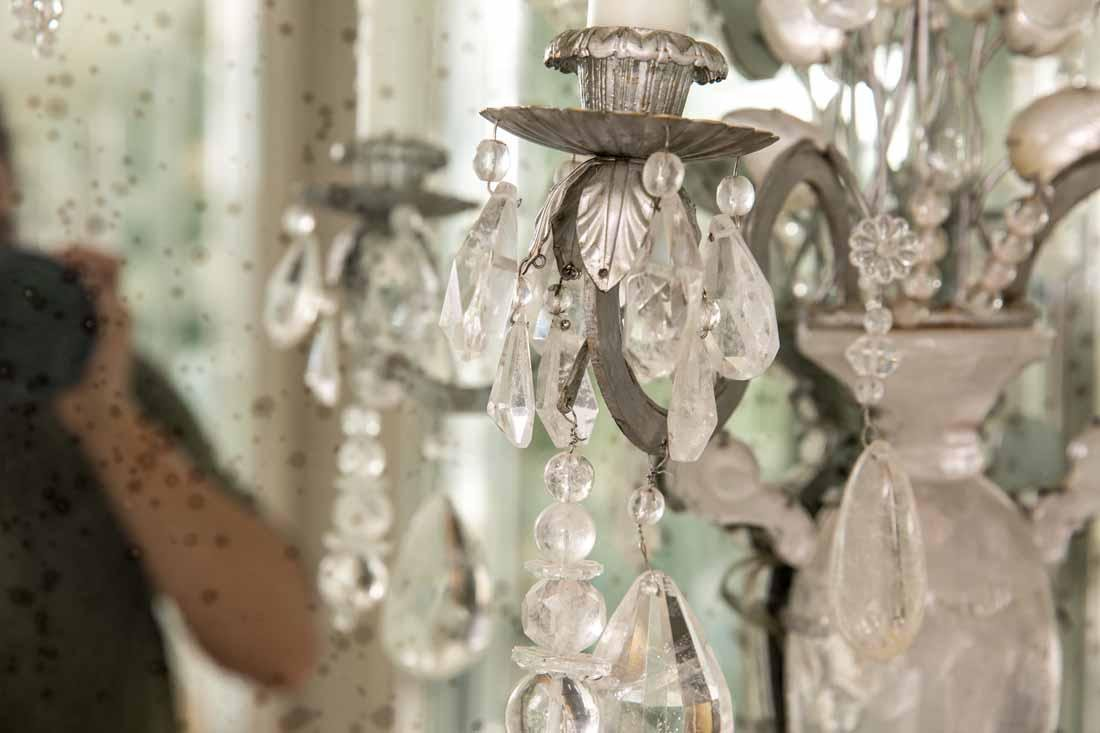 Pair of Rock Crystal 2-Light Sconces - 9