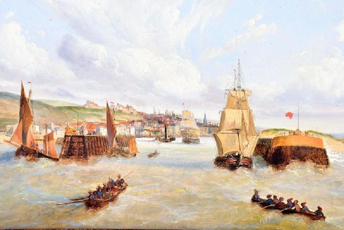Eugene Gabé (19th century) French ships in a harbour, - 2