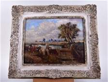 20th century British school a country landscape in the