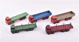 Two loose and playworn 905 Dinky Foden Flat Truck with