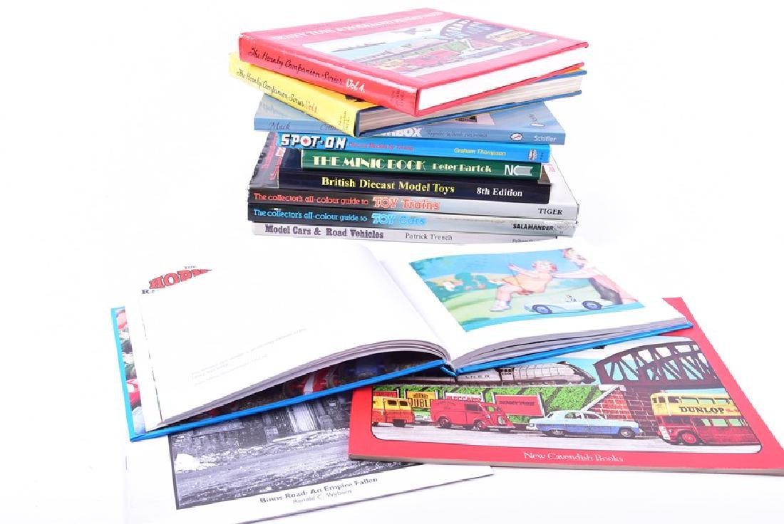 A collection of model car and train reference books  to
