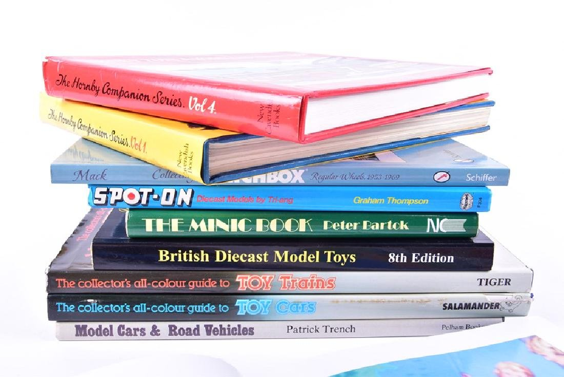 A collection of model car and train reference books  to - 3