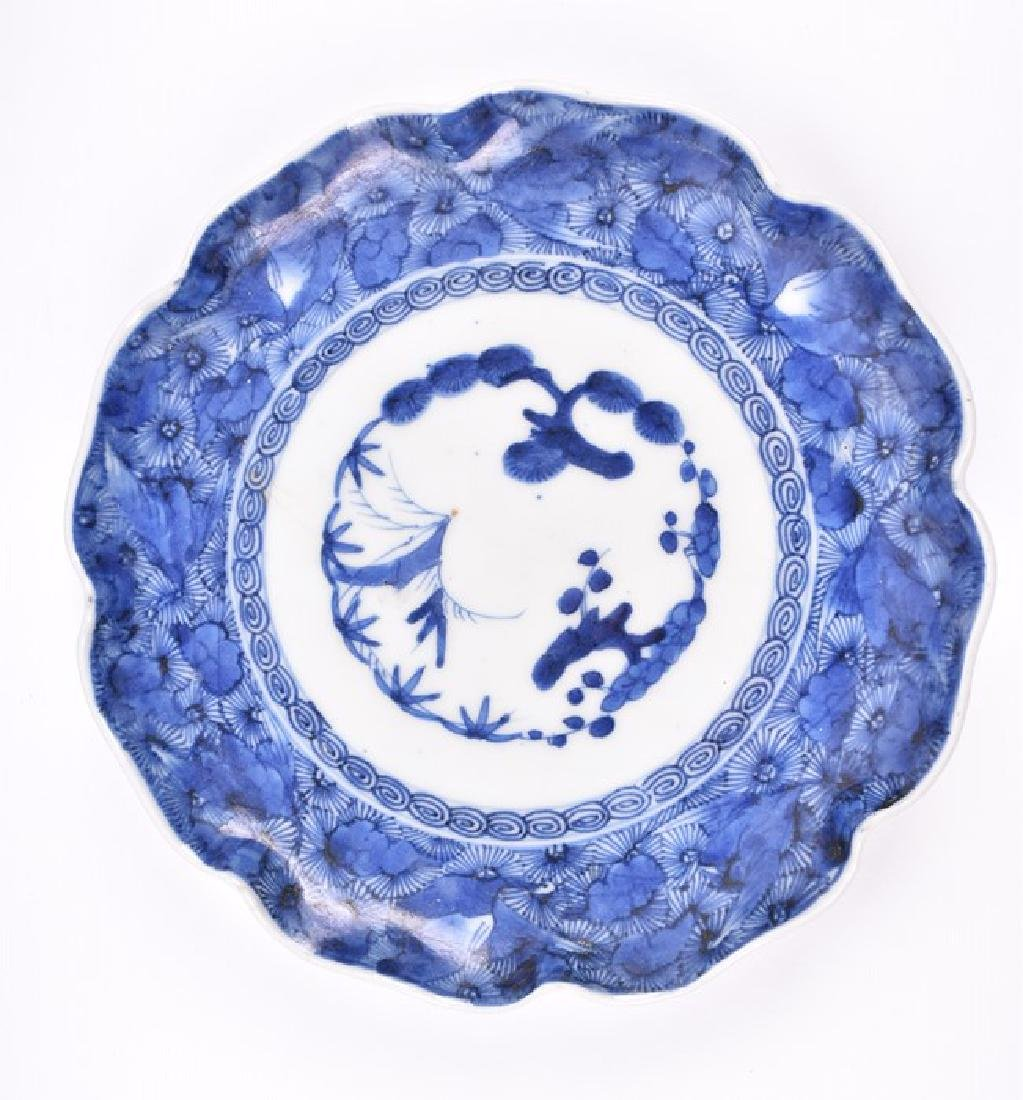 A Chinese blue and white porcelain lobbed bowl  the - 5