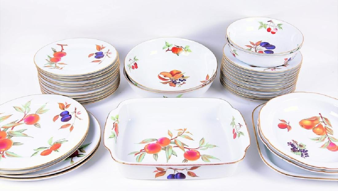 A Royal Worcester part dinner service  in the Evesham