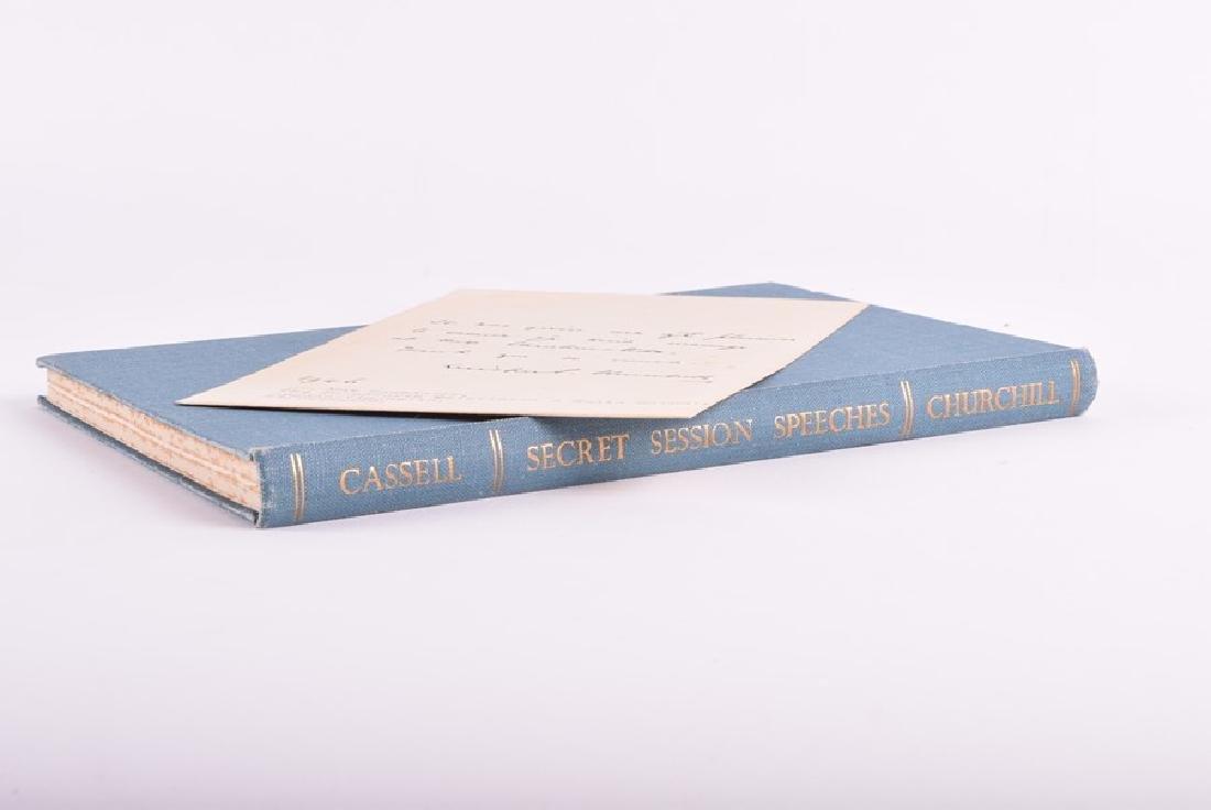 "Cassell ""Secret Session Speeches"" by Winston Churchill,"