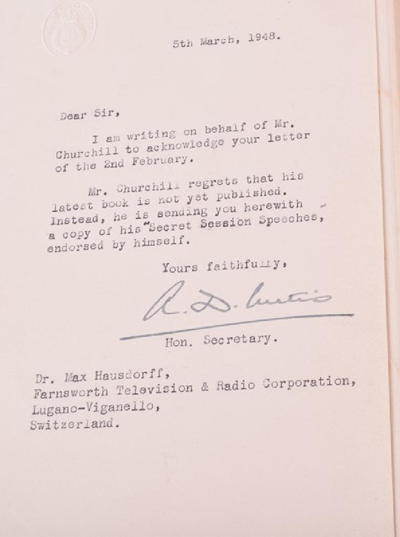 "Cassell ""Secret Session Speeches"" by Winston Churchill, - 6"