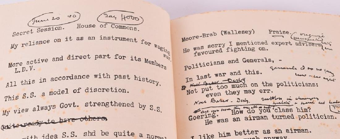 "Cassell ""Secret Session Speeches"" by Winston Churchill, - 9"