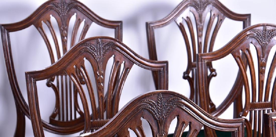 A set of twelve Sheraton style mahogany dining chairs - 2