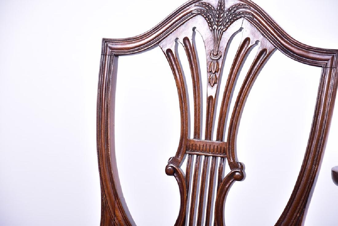 A set of twelve Sheraton style mahogany dining chairs - 3