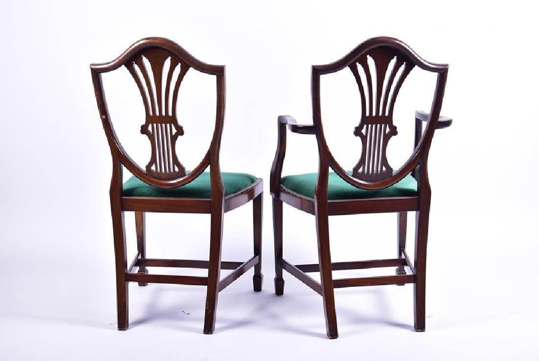 A set of twelve Sheraton style mahogany dining chairs - 4