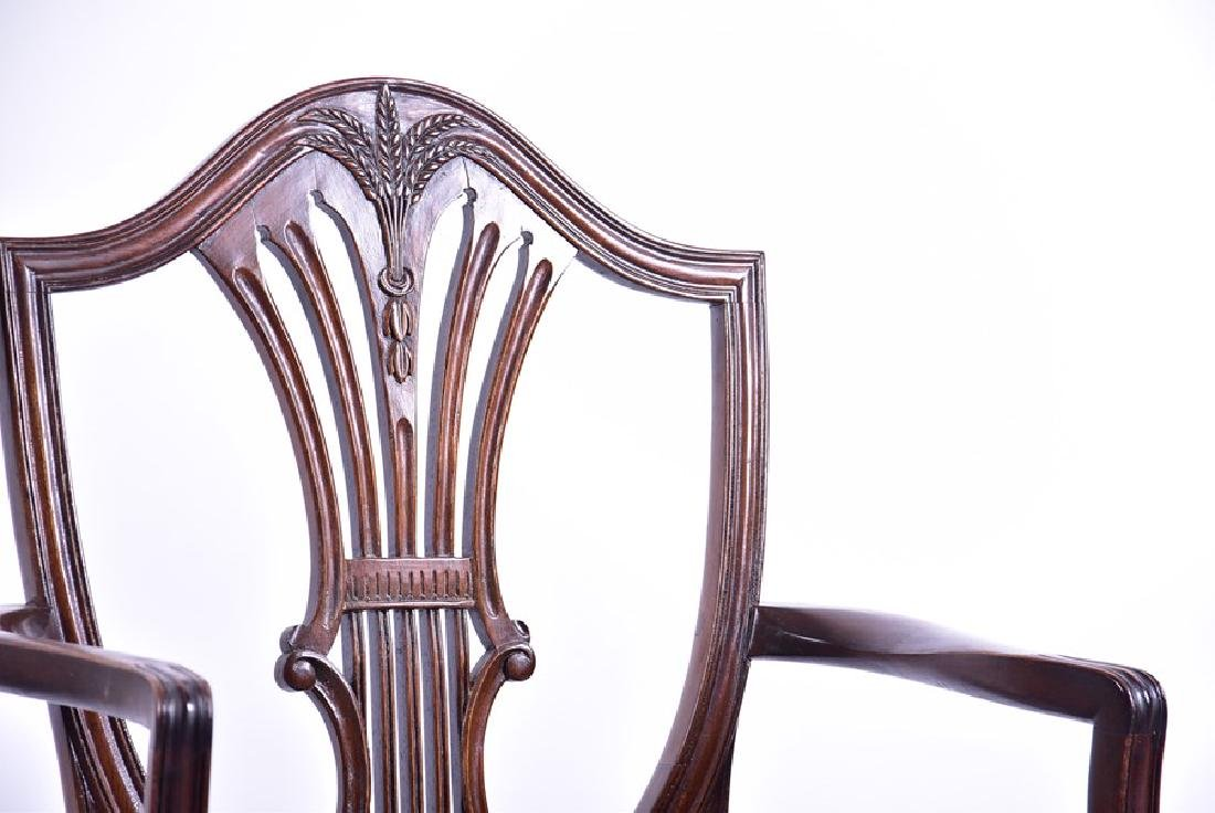 A set of twelve Sheraton style mahogany dining chairs - 5