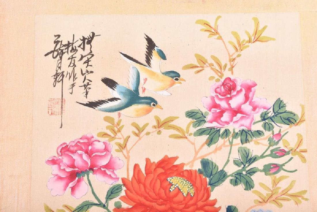 A collection of 20th century Chinese paintings on silk - 3