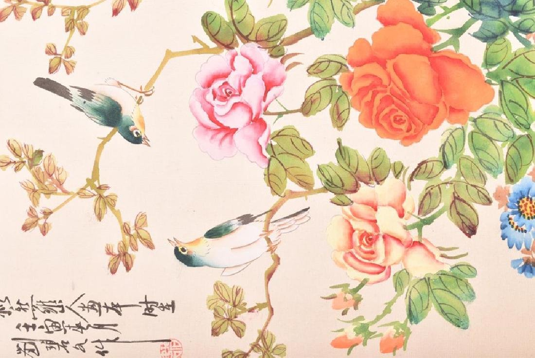 A collection of 20th century Chinese paintings on silk - 5