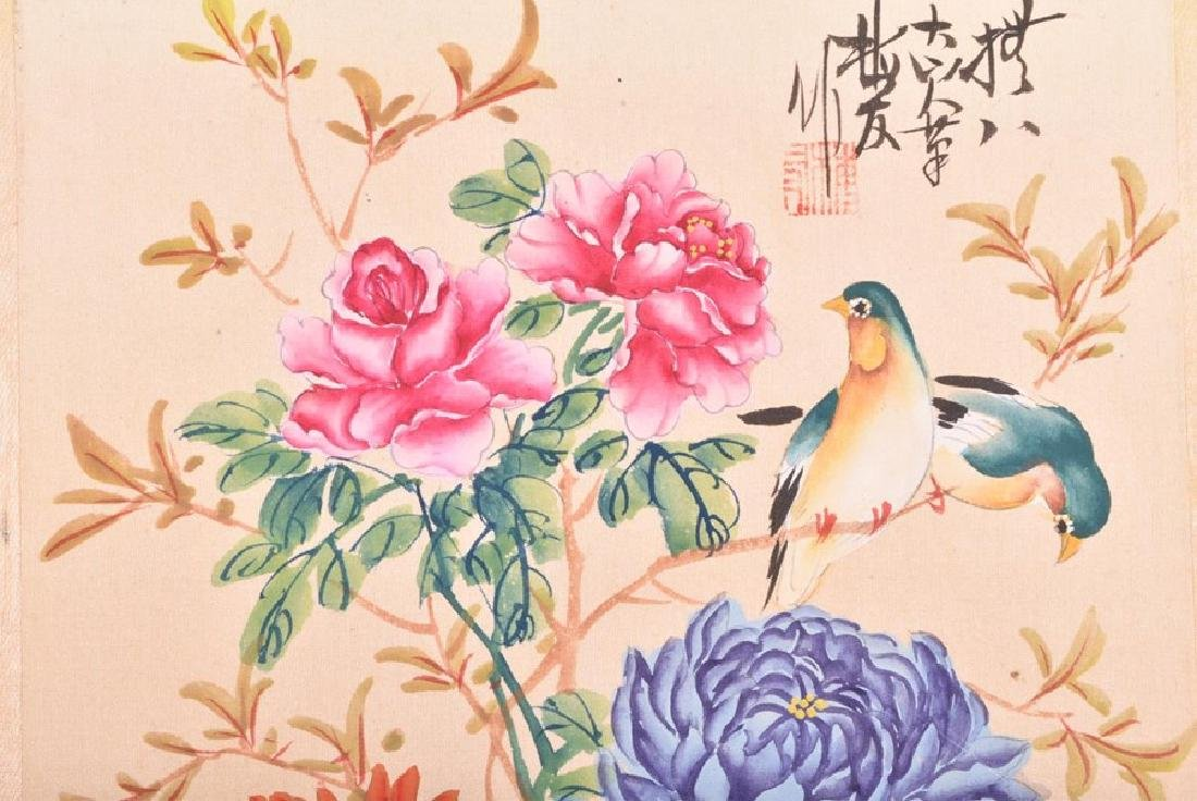 A collection of 20th century Chinese paintings on silk - 7