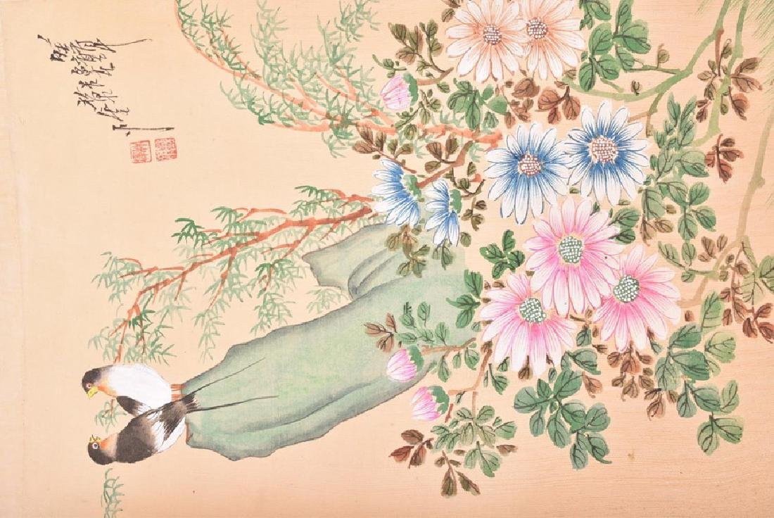 A collection of 20th century Chinese paintings on silk - 8