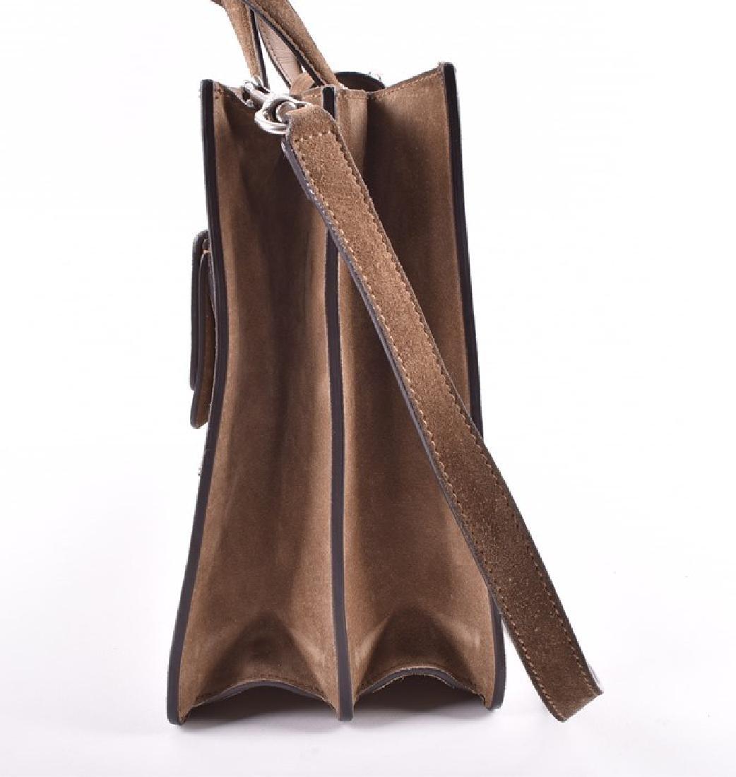 Gucci. A green suede satchel style handbag  of - 4