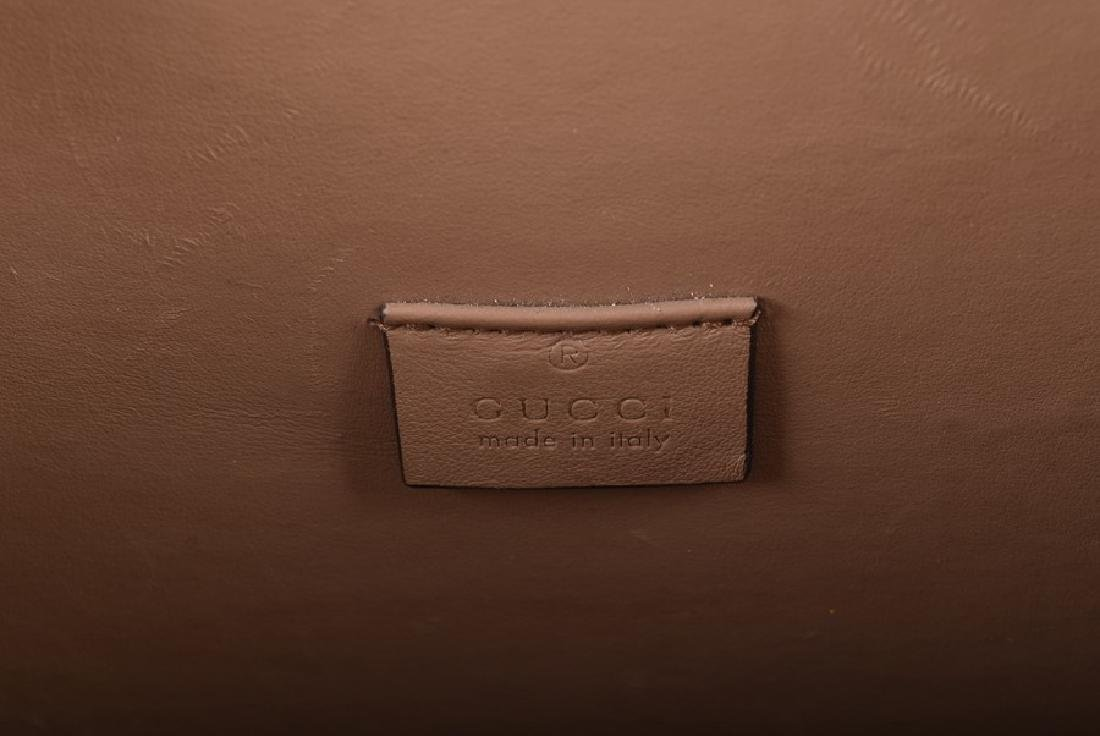 Gucci. A green suede satchel style handbag  of - 8