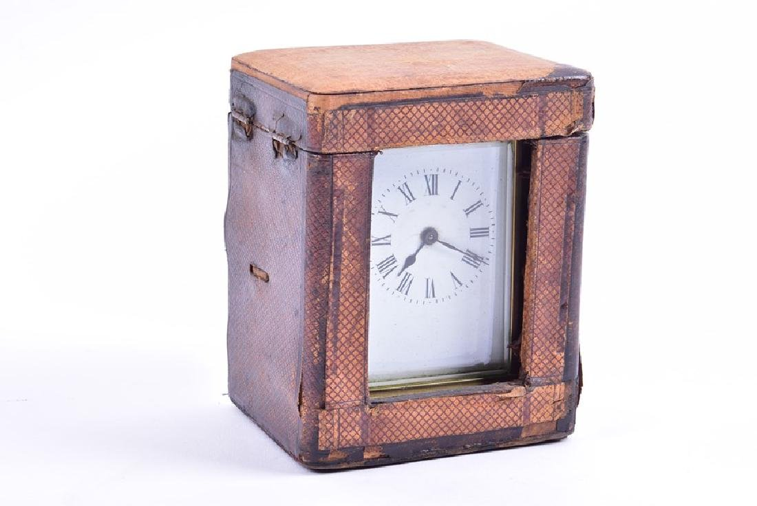 A late 19th century French gilt brass carriage clock - 2