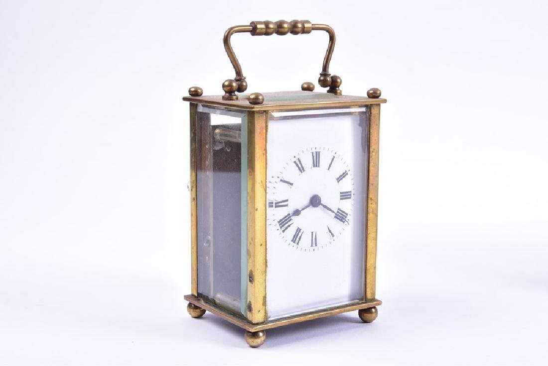 A late 19th century French gilt brass carriage clock - 5