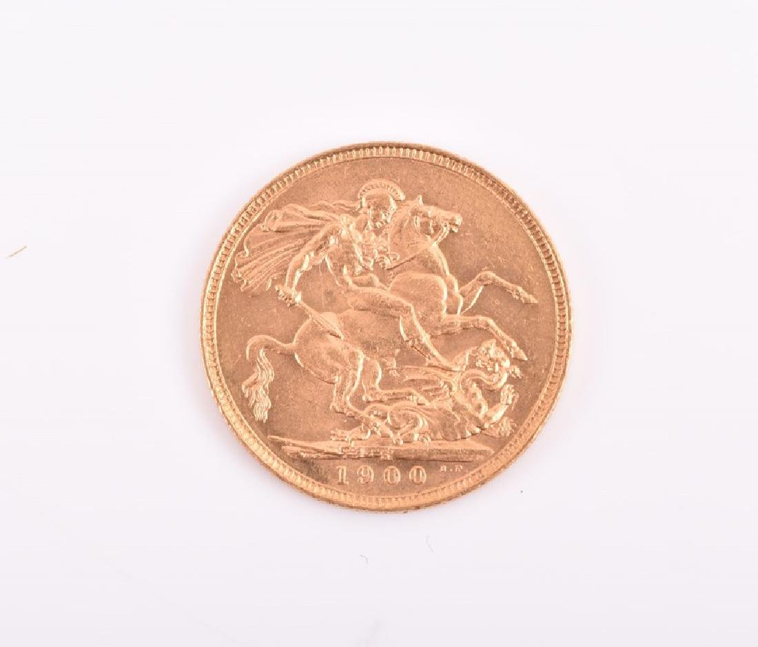 A 1900 Victoria full sovereign. - 2