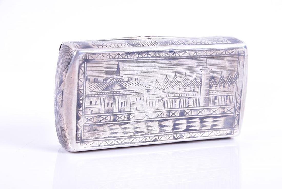A Russian silver niello snuff box  1836, by Karl - 2