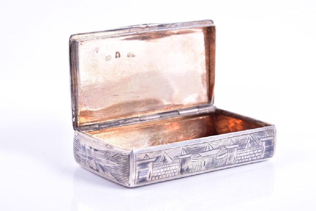 A Russian silver niello snuff box  1836, by Karl - 3