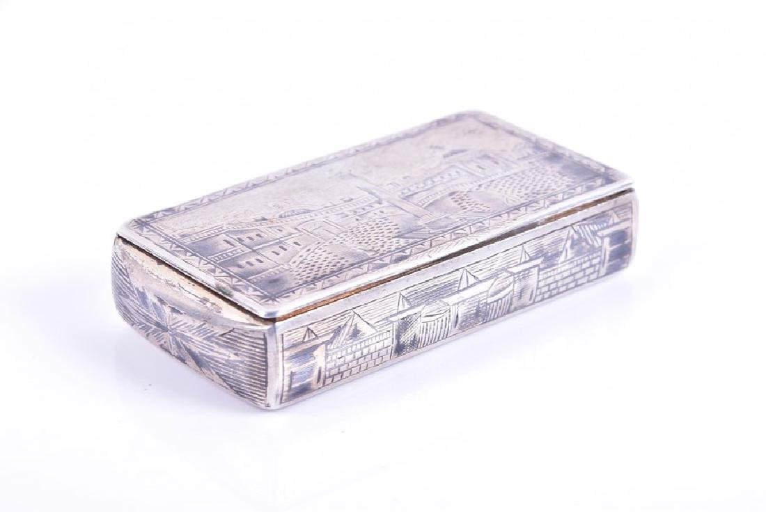 A Russian silver niello snuff box  1836, by Karl - 4